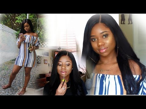 GRWM - A Day Out In JAMAICA ! : Makeup & Hair | Unice Hair| Chev B
