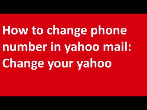 ✱✱✱How to change phone number in yahoo mail: Change your yahoo phone number✱✱✱