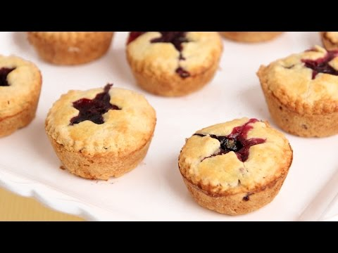 Mini Blueberry Pies Recipe - Laura Vitale - Laura in the Kitchen Episode 810