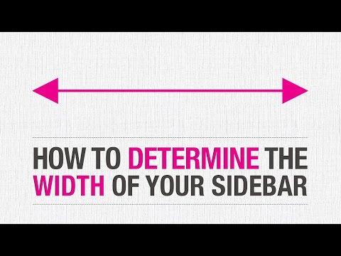 How to Determine your WordPress Sidebar Width