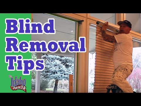 How To Remove Levolor Style Blinds.  Blind Removal Hacks.