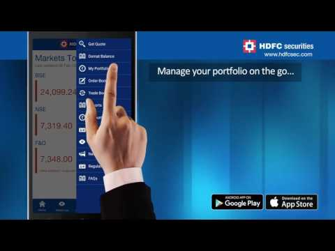 Mobile App Demo - Stay On Top Of The Market With HDFC securities Mobile Trading App