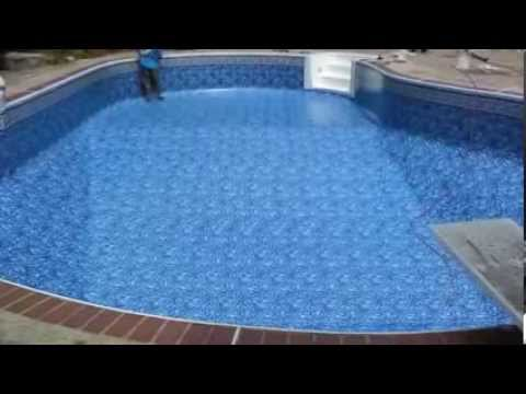 Above Ground and Inground Pool Liner Samples