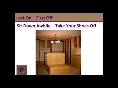 Closet Design 101 Shoes as Command Central