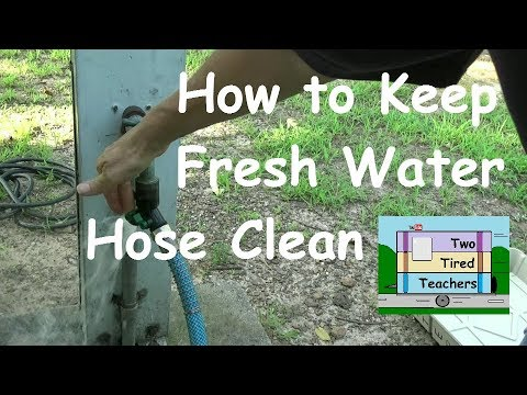 How to Keep RV Fresh Water Hose Clean While Disconnecting