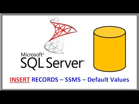 SQL Server - INSERT RECORDS INTO TABLE VIA SSMS - Handling NOT NULL Fields with Default Values