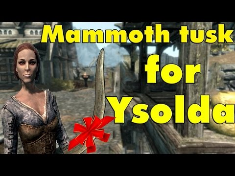 Skyrim Special Edition: Meeting Ysolda, easy mammoth tusk location