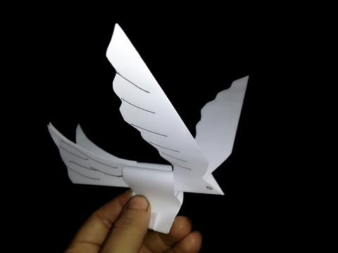 Paper Bird Origami - It's a Flying Bird - Easy Steps - You Can Fly It Like a real Bird