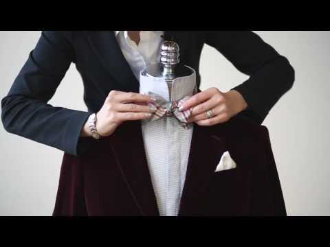 Learn how to tie the perfect bow tie in just a few simple steps by Harry Rosen