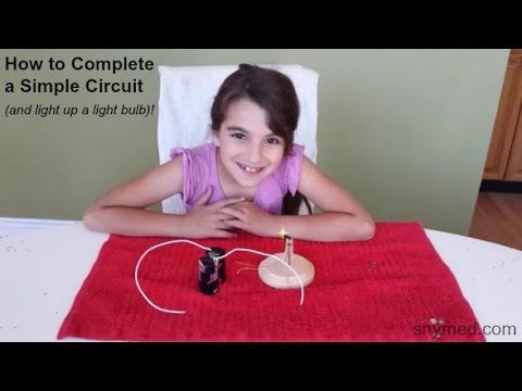 How to Complete a Simple Circuit and Light Up a Light Bulb: Science Experiment: