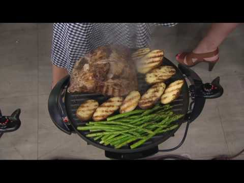 George Foreman 15 Serving Indoor/Outdoor Grill w/ Cover & Recipes on QVC