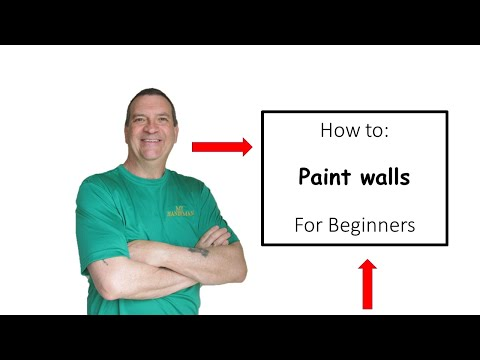 How to roll paint on a wall
