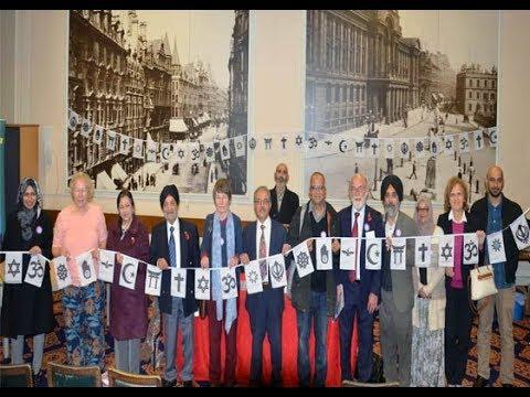 interfaith week launch at council house victoria square birmingham uk