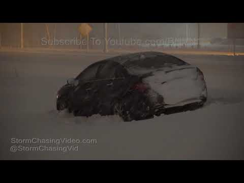 Hartford, CT Noreaster Blasts I-90 with deep snow - 3/7/2018