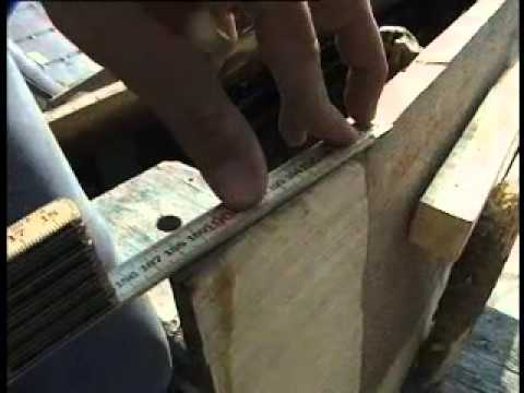 Splitting a tree and hewing planks - Viking Longship construction