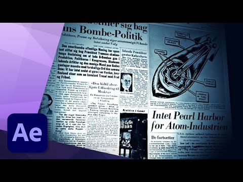 NEWSPAPER FLYTHROUGH in AFTER EFFECTS - TUTORIAL