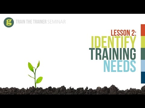 Lesson 2: Identify Training Needs