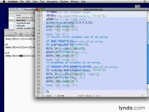 2.) Applying more array functions