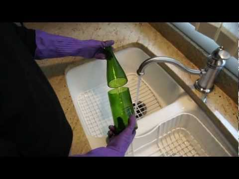 How to cut a glass wine bottle in 60 seconds