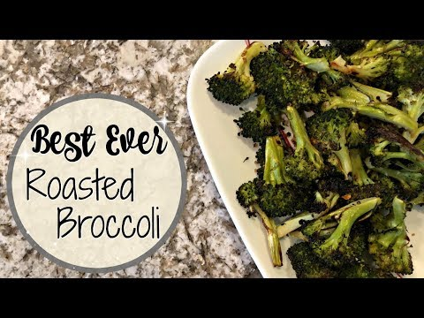THE BEST EVER ROASTED BROCCOLI :: 4 INGREDIENT VEGAN RECIPE :: COOK WITH ME