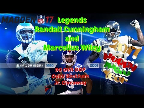 Madden 17 Legends Randall Cunningham and Marcellus Wiley and 90 OVR Odell Beckham Jr OOP FS Giveaway