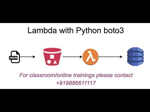 AWS Lambda : load JSON file from S3 and put in dynamodb