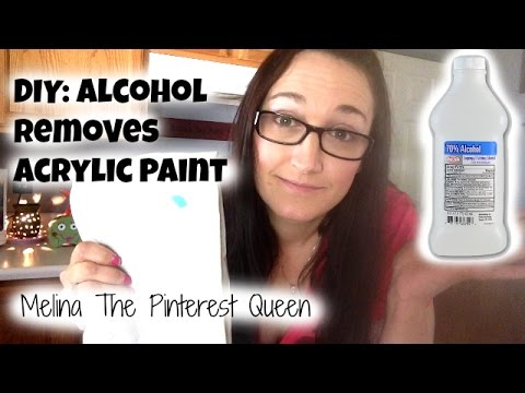 DIY: Alcohol to Remove Paint From Clothes
