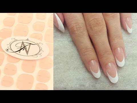 Flawless Nails: How to use Adhesive Nail Tabs to apply Faux Nails Extreme French Manicure