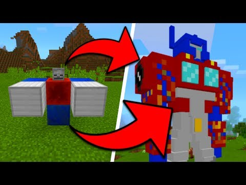 How To Spawn TRANSFORMERS in Minecraft Pocket Edition (Transformer Mobs Addon)