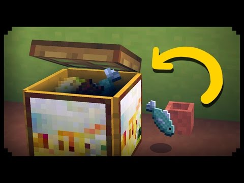 ✔ Minecraft: How to make a Working Trash Can