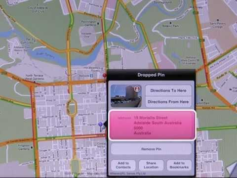 Using Google Maps on the iPad to find your way - intro2ipad.com