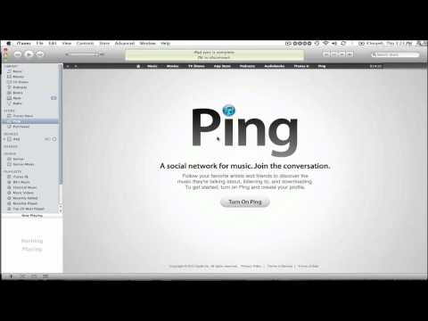 How to Set up Ping Account on iTunes 10 (No Credit Card)