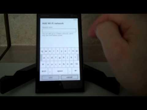 How to turn on Wifi or wireless settings on the Nokia Lumia 900