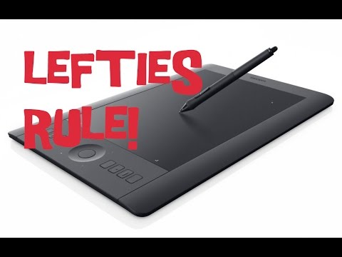 How to set up your wacom tablet for left handed use