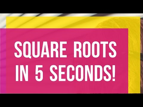 SQUARE ROOTS of IMPERFECT squares IN 5 SECONDS!!