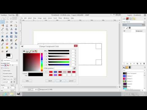 How to Select Color in GIMP