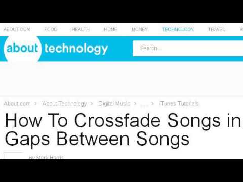 How To: A 10-Second Crossfade In Itunes