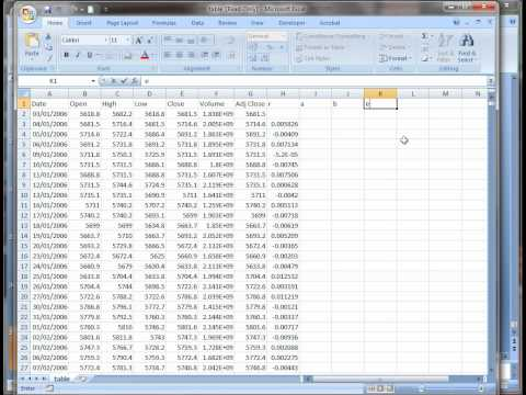 How to perform timeseries forcast and calculate root mean square error in Excel.
