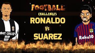 🔥RONALDO vs SUAREZ: Football Challenges!🔥 (Parody)