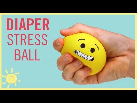 DIY | Emoji Stress Ball (made from a Diaper!!)