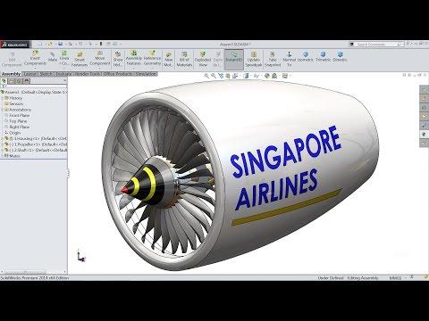 Solidworks tutorial | sketch jet Engine in Solidworks