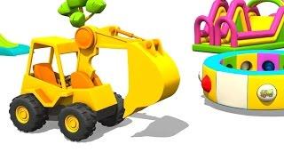 Cartoons für Kinder - Max der Bagger und das Karussell - Baustellenfahrzeuge
