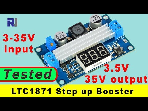 Test Review of  LTC1871 Step Up 3-35V input to 3.5 to 35V output booster module