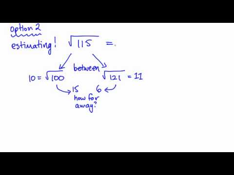 Math 9 Lesson 1.3 Square Roots of Non-Perfect Squares