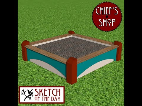 Chief's Shop Sketch of the Day: 3x3 Decorative Bed
