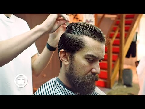 Slicked Back Hairstyle for Thick Hair | Cut & Grind