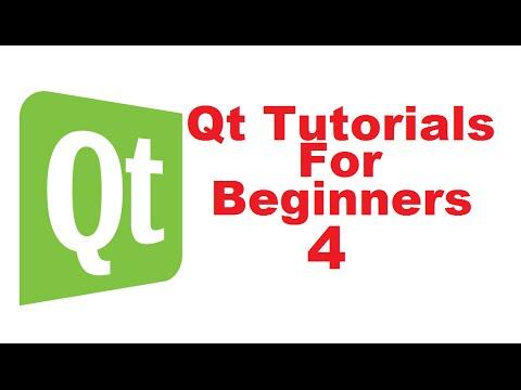 Qt Tutorials For Beginners 4 - First Qt GUI widget Application