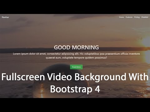 Fullscreen Video Background With HTML CSS and BOOTSTRAP 4