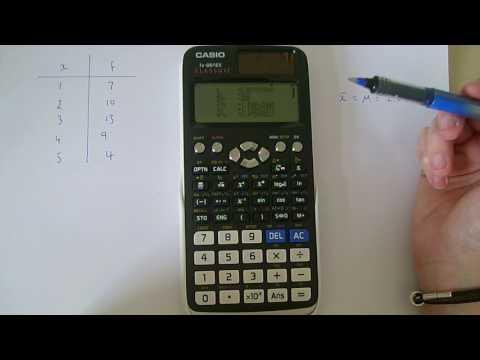 Casio fx-991EX Classwiz calculator. Finding mean, variance, standard deviation etc