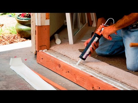 How to Install a Door Sill, Threshold and Weatherstripping a Door